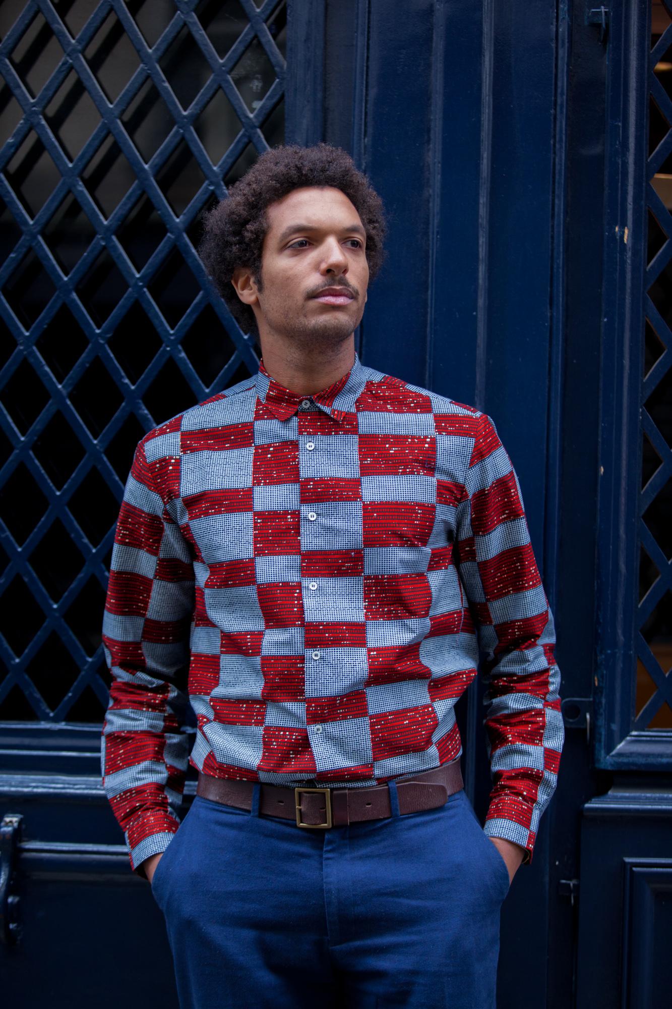 Pierre Damier Wax Shirt Worn By Jean Collection Vivi Moonlook