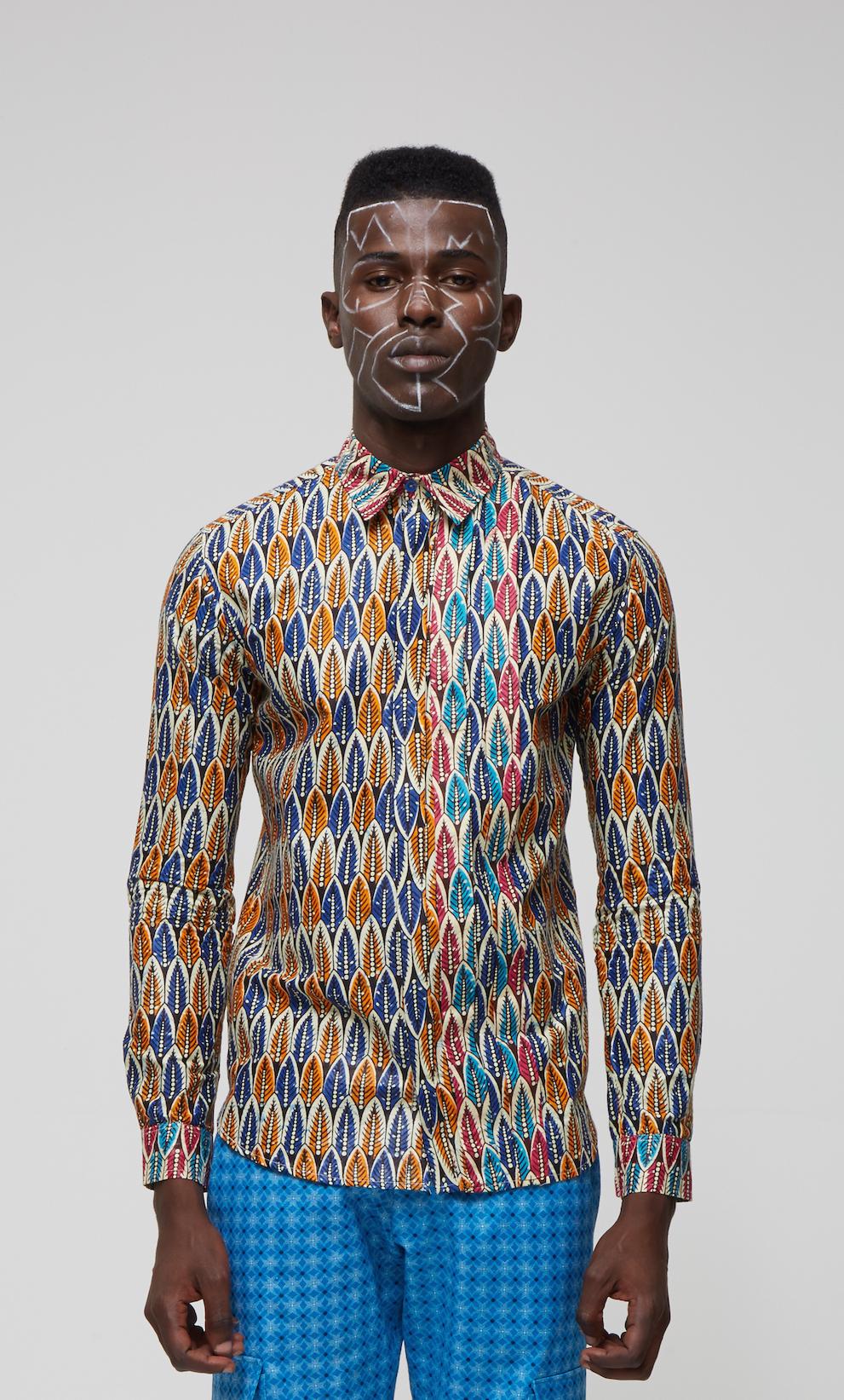 Fundudzi Wax Print Shirt Moonlook