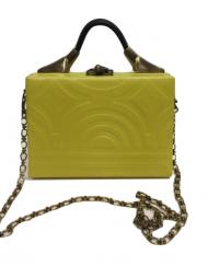 HAMETHOP YELLOW MINI NDEBELE BOX BAG