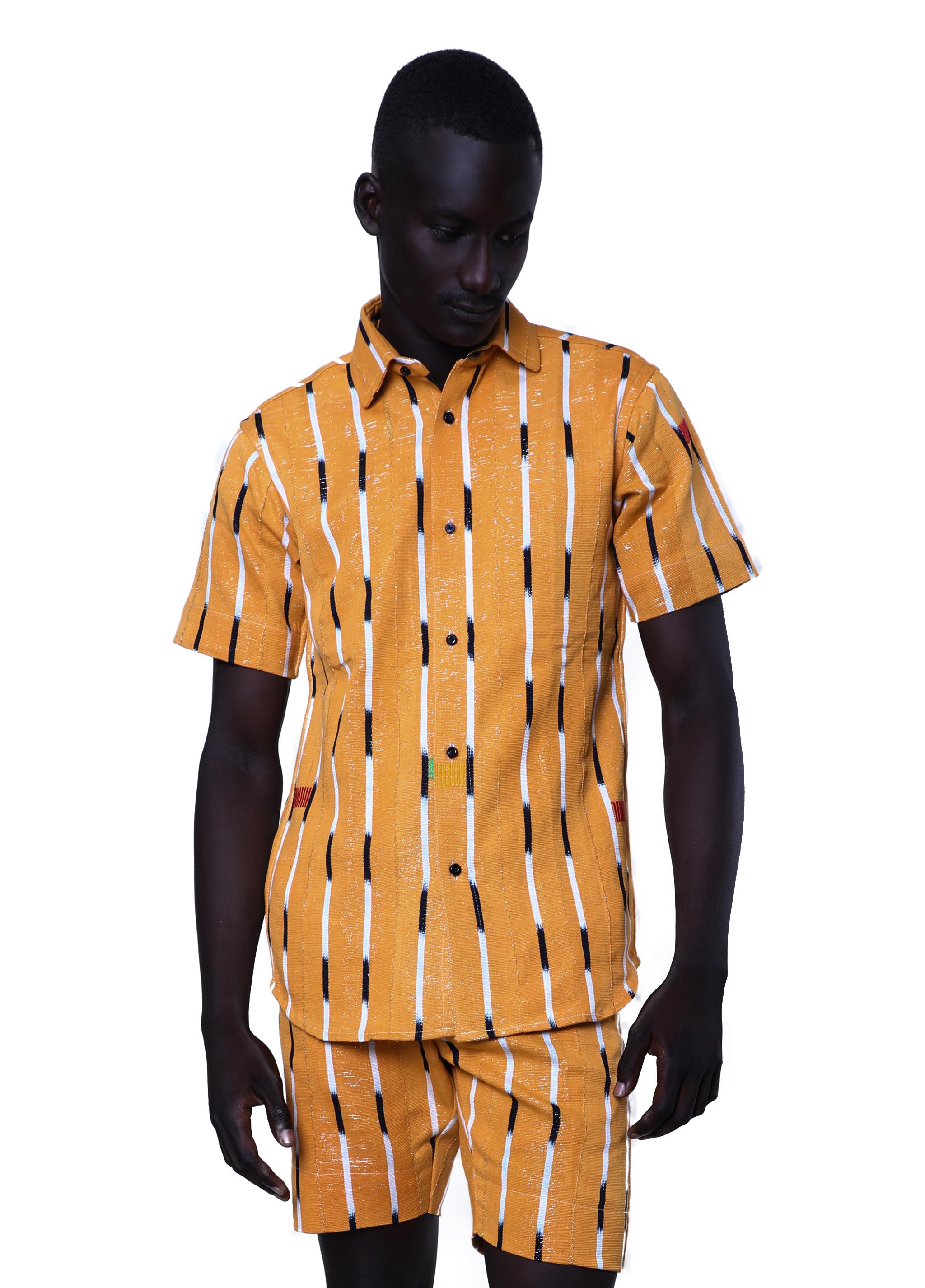 45f3f420497 Kente Gentlemen - Baoulé fabric shirt - Akan I - 001 - Moonlook